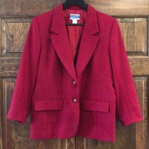 Pendleton wine berry color blazer jacket petite 12